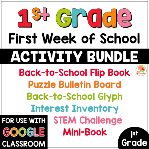 small resolution of First Week of School Activities for 1st Grade
