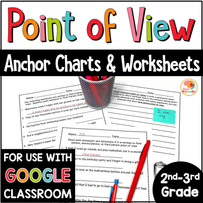 Point of View Worksheets with Digital Distance Learning Option