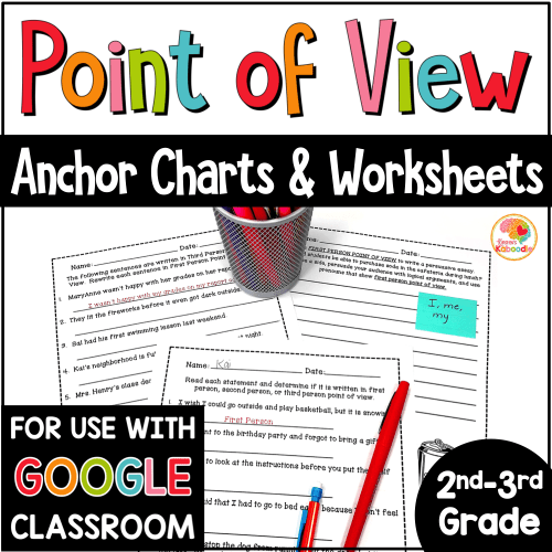 small resolution of Point of View Printables