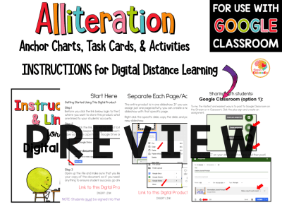 Alliteration Activities with Digital Option PREVIEW