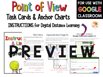 Point of View Task Cards Preview