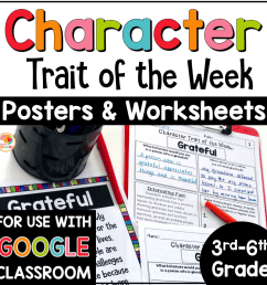 Character Traits Graphic Organizer: Character Trait of the Week [ 1000 x 1000 Pixel ]