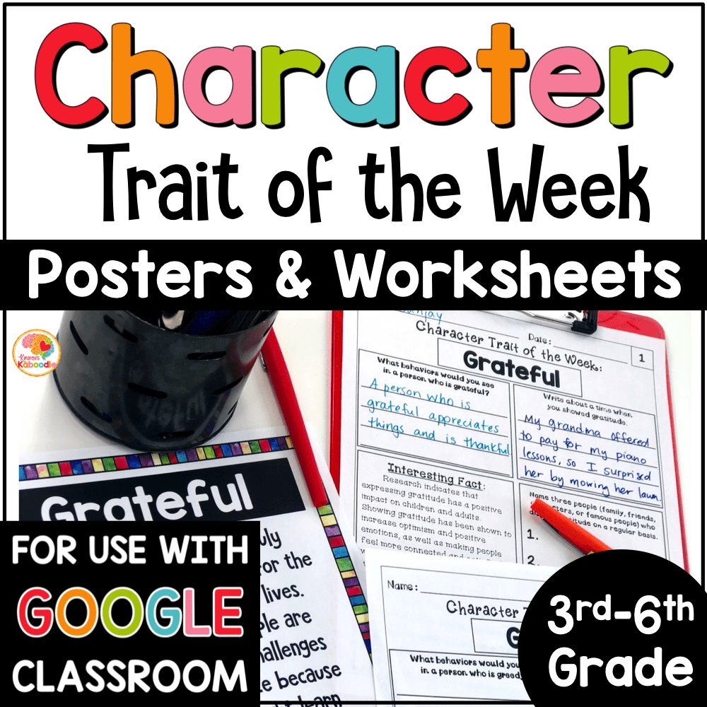 medium resolution of Character Traits Graphic Organizer: Character Trait of the Week