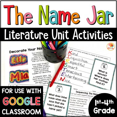 The Name Jar Activities for Kids COVER