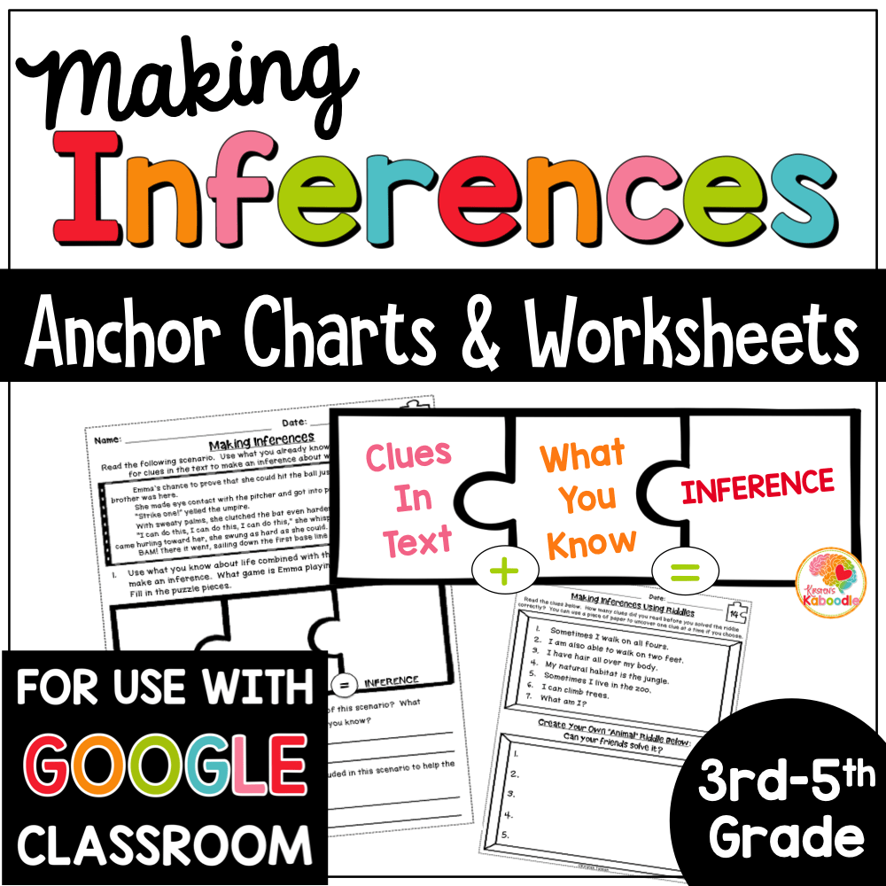 hight resolution of Making Inferences Reading Passages and Printables