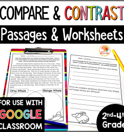 Compare and Contrast Printables and Reading Passages [ 1000 x 1000 Pixel ]