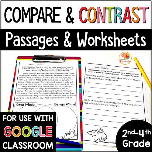 small resolution of Compare and Contrast Printables and Reading Passages