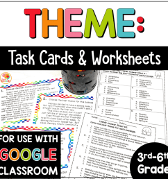 Theme Task Cards and Printables [ 1000 x 1000 Pixel ]