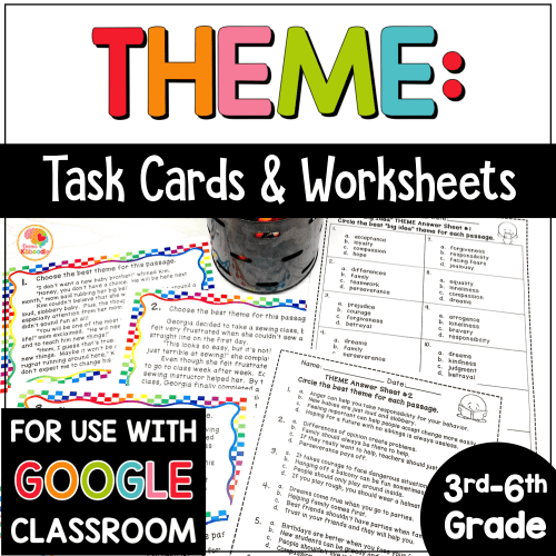 small resolution of Theme Task Cards and Printables