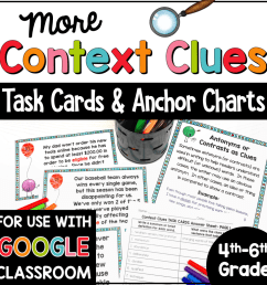 Context Clues Task Cards and Anchor Charts for 4th-6th Grade [ 1000 x 1000 Pixel ]