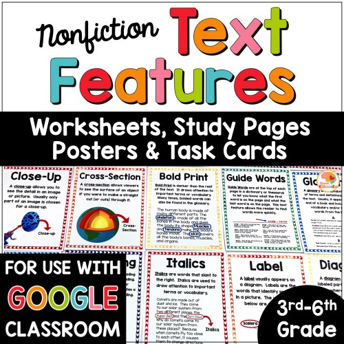 small resolution of Nonfiction Text Features Posters