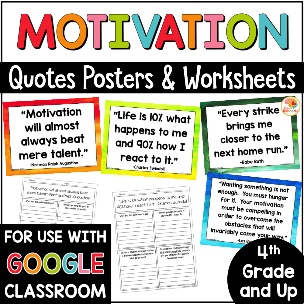 medium resolution of Motivation Quotes Posters and Printables for Growth Mindset