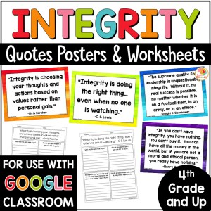 Integrity Quotes Posters and Activities COVER