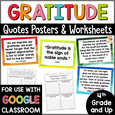 Gratitude Quotes Posters and Activities COVER