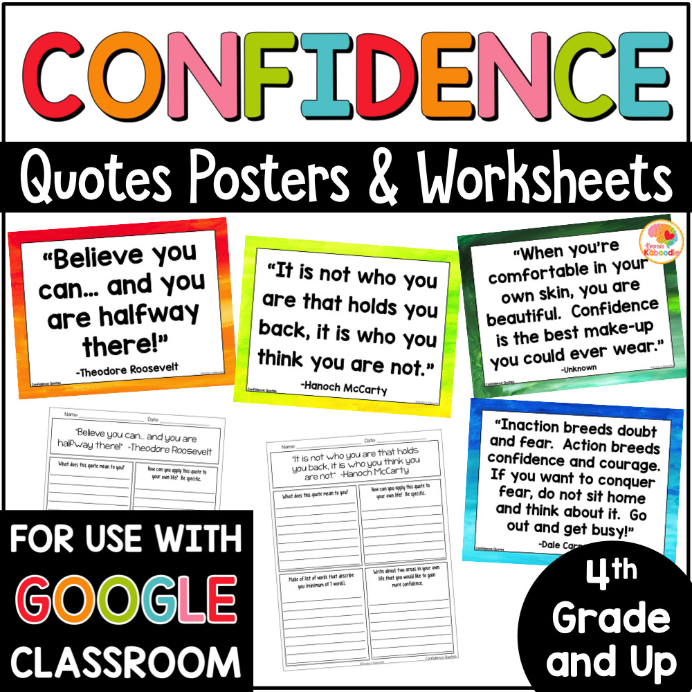 medium resolution of Confidence Quotes Posters and Printables for Growth Mindset