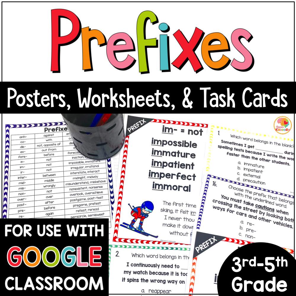 medium resolution of Prefixes Posters