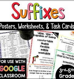 Suffixes Posters [ 1000 x 1000 Pixel ]
