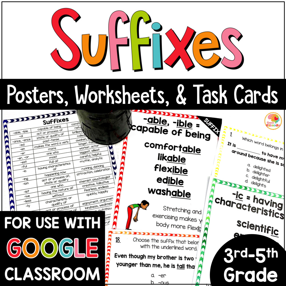 medium resolution of Suffixes Posters