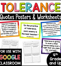 Tolerance Quotes Posters and Activities [ 1000 x 1000 Pixel ]