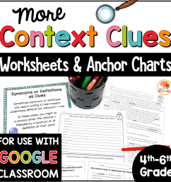 Context Clues Printables and Anchor Charts for 4th-6th Grade [ 1000 x 1000 Pixel ]