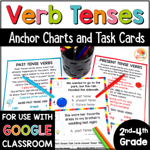 Verb Tenses Task Cards and Anchor Charts COVER