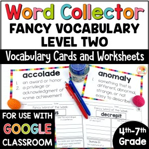 Fancy Words Word Collector Vocabulary Word of the Week COVER