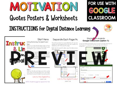 Motivation Quotes and Worksheets Activities PREVIEW