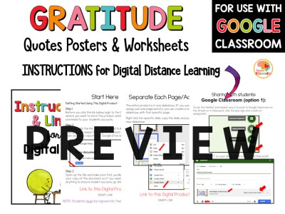 Gratitude Quotes Posters and Activities PREVIEW