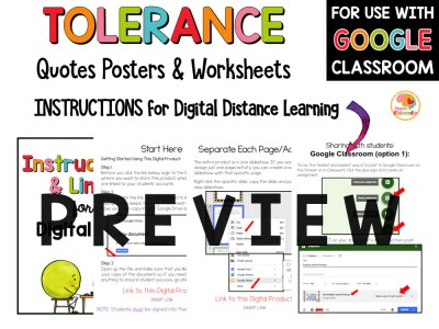 Tolerance Quotes Posters and Activities Preview