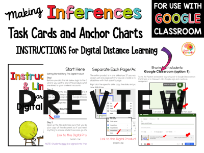 Making Inferences Task Cards PREVIEW