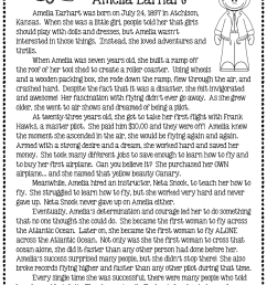 I am Amelia Earhart by Brad Meltzer Literature Activities [ 1381 x 1058 Pixel ]