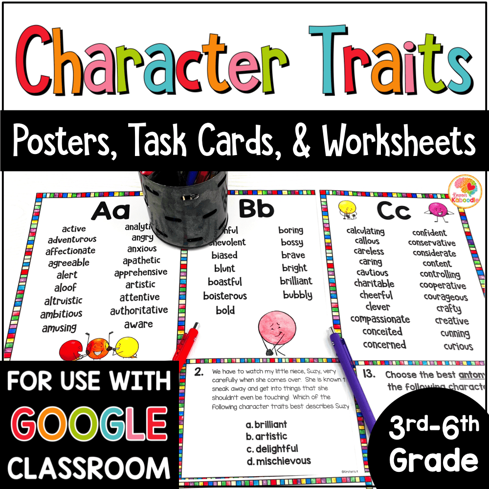 medium resolution of Character Traits Lists