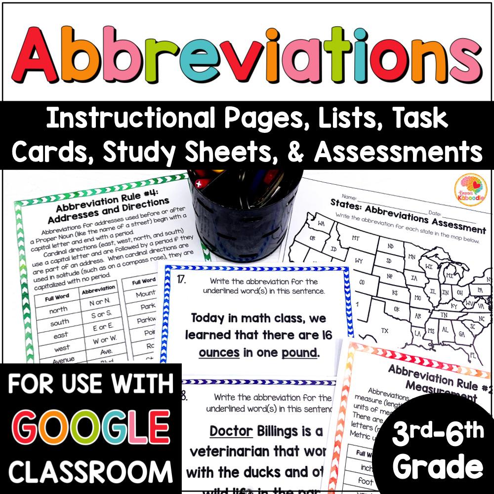 medium resolution of Abbreviations Activities: Rules