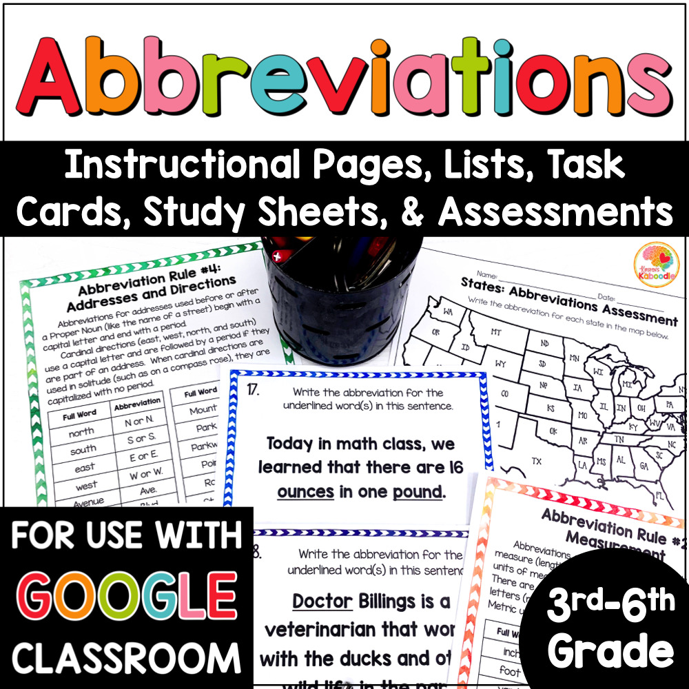 hight resolution of Abbreviations Activities: Rules