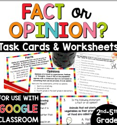 Fact and Opinion Task Cards and Printables [ 1000 x 1000 Pixel ]