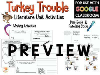 Turkey Trouble Activities PREVIEW