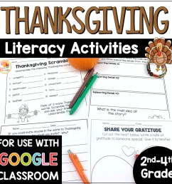 Thanksgiving Literacy Activities - NO PREP [ 1000 x 1000 Pixel ]