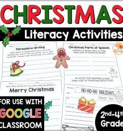 Christmas Literacy Activities No Prep [ 1000 x 1000 Pixel ]
