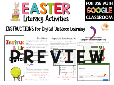 Easter Literacy Activities PREVIEW