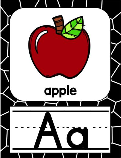 Alphabet Posters - Black and White Theme