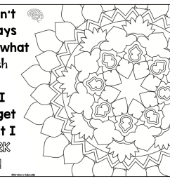 Growth Mindset Coloring Pages - Affirmations for Upper Grades [ 996 x 1300 Pixel ]