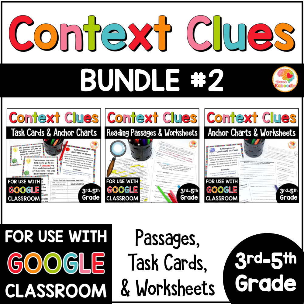 hight resolution of Context Clues Activities for 3rd