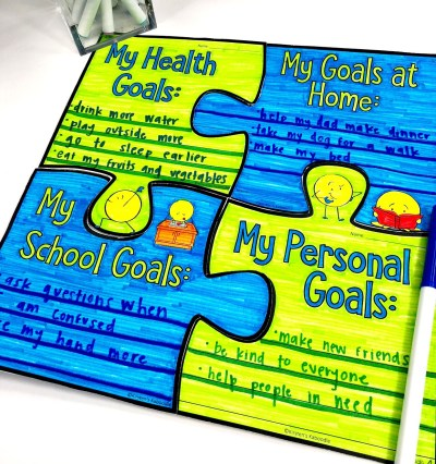 Student Goals: Puzzle Bulletin Board