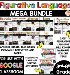 Figurative Language MEGA BUNDLE: Activities [ 1000 x 1000 Pixel ]