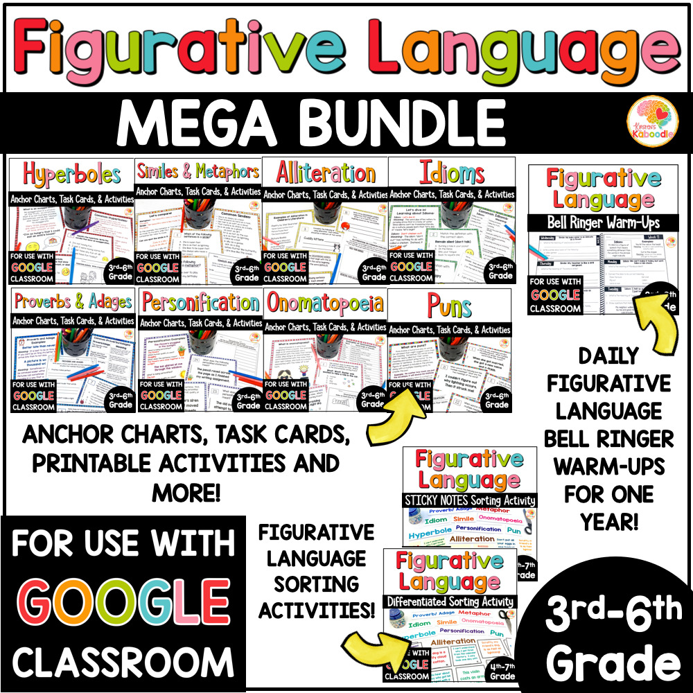 medium resolution of Figurative Language MEGA BUNDLE: Activities