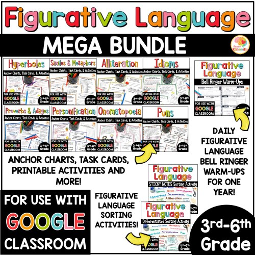 small resolution of Figurative Language MEGA BUNDLE: Activities
