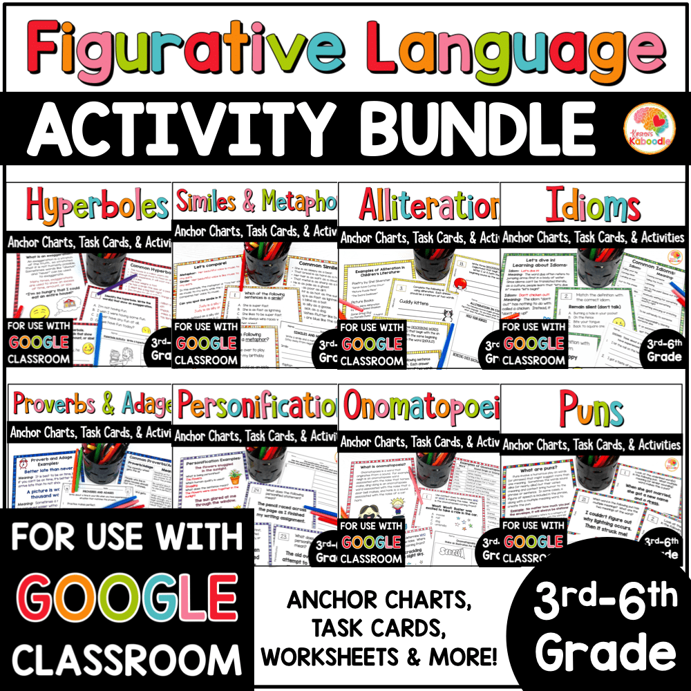 hight resolution of Figurative Language Activities and Task Cards BUNDLE with Digital Distance  Learning Option • Kirsten's Kaboodle