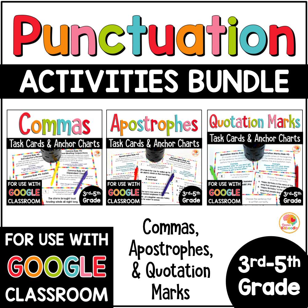hight resolution of Punctuation Practice Activities BUNDLE - Commas