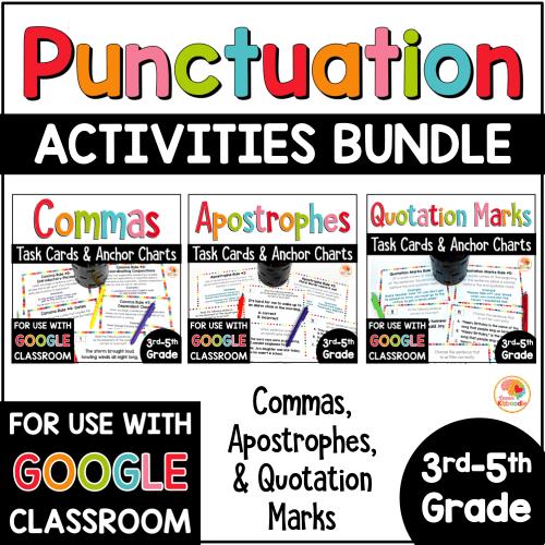 small resolution of Punctuation Practice Activities BUNDLE - Commas