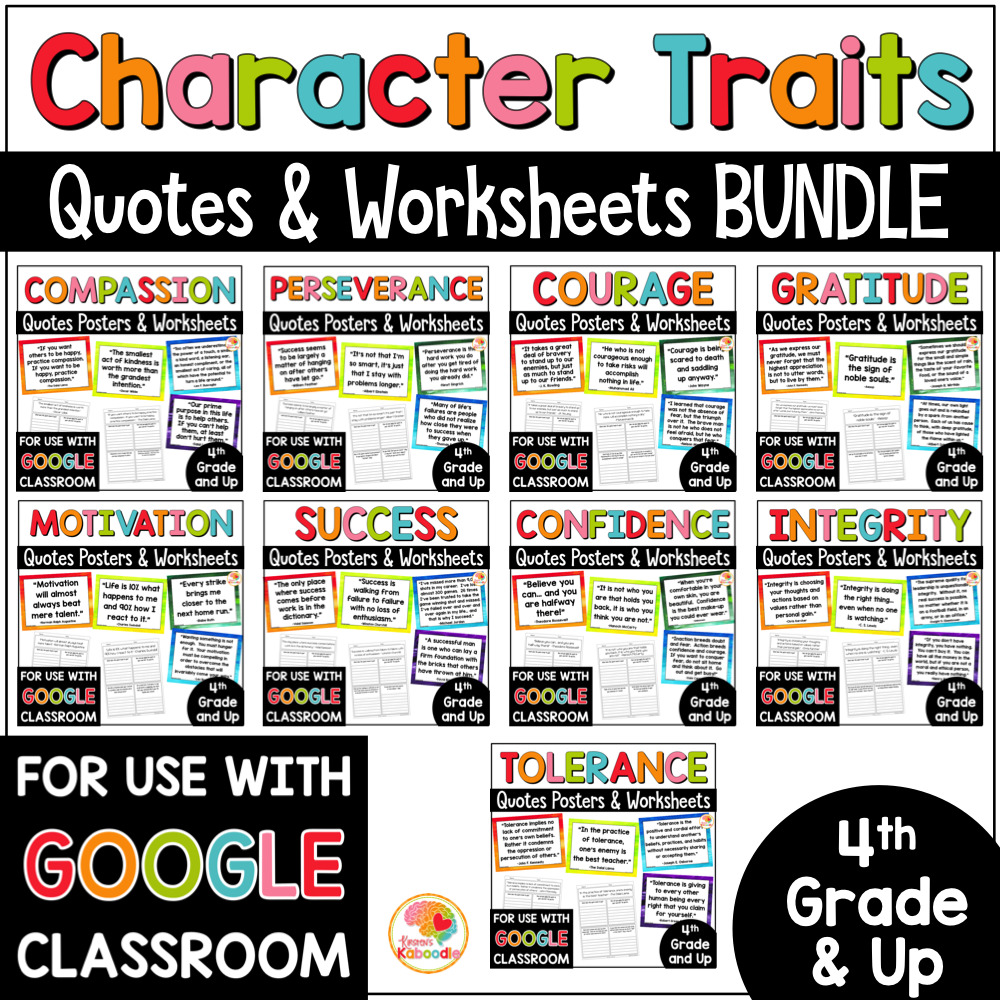 hight resolution of Character Traits Quotes Posters and Activities MEGA BUNDLE with Digital  Option • Kirsten's Kaboodle